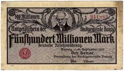 Billet de 500 millions de marks le 26 septembre 1923