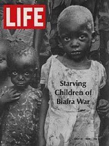 Couverture de Life durant la guerre du Biafra