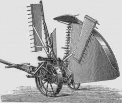 Dessin de la moissonneuse inventé par Cyrus McCormick