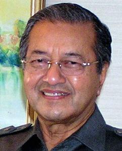 l'ancien premier ministre malais Mahathir, qui avait un temps affirmé la responsabilité des étrangers dans al crise fianncière de 1997