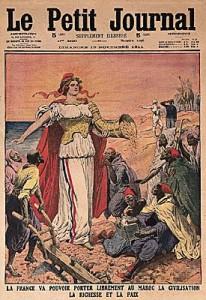 Une du Petit Journal : La France s'apprêtait alors à coloniser le Maroc