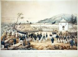 Le débarquement du Commodore Perry à Uraga le 8 juillet 1868