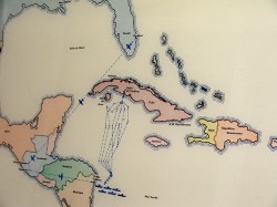 Carte des événements de la Baie des Cochons