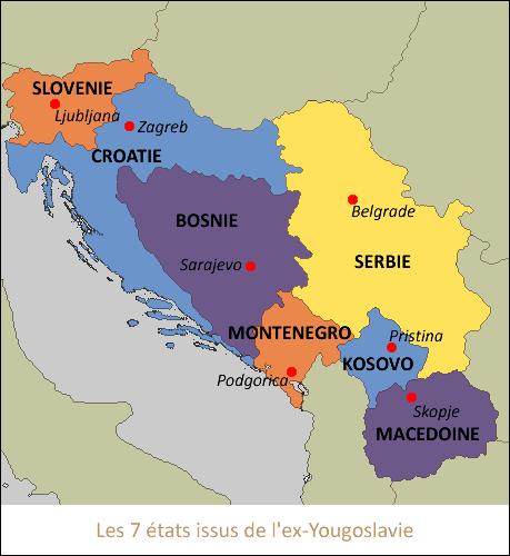 carte europe ex yougoslavie