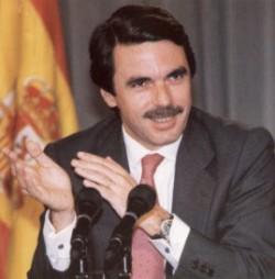 José Maria Aznar, leader du PP lors de son arrivée au pouvoir en 1996