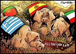 Dessin humoristique sur le thème des PIGS