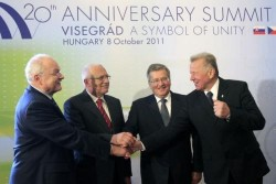 Les présidents des pays membres du Groupe de Visegrad en 2011