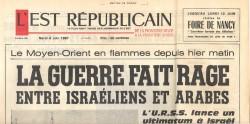 La Une de l'Est républicain, le 6 juin 1967