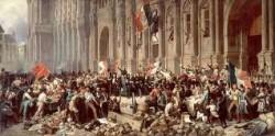 Lamartine devant les révolutionnaire parisiens en 1848