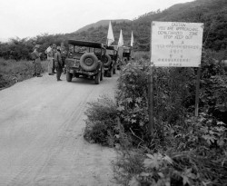 La zone coréenne démilitarisée (DMZ) en 1953