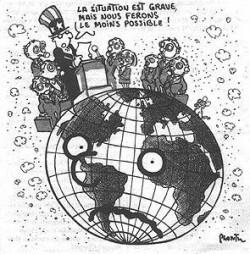 Dessin de Plantu parue dans le journal Le Monde pour dénoncer l'immobilisme des négociations climatiques internationales