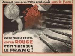 Une affiche électorale de 1928 appelant à voter contre la gauche