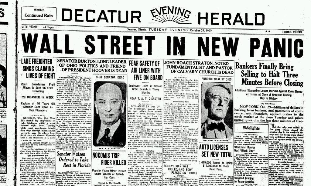 Le 29 octobre, c'est le choc à Wall Street : l'économie plonge pour la deuxième et dernière fois !