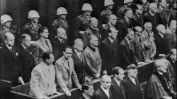 Les accusés nazis lors des Procès de Nuremberg