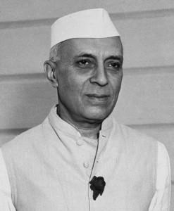 Jawaharlal Nehru, le premier Premier Ministre de l'Inde.