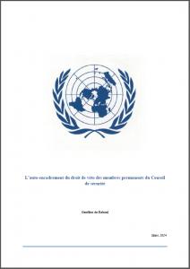 auto-encadrement droit veto ONU de Reboul