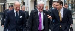 Les ministres des affaires étrangères du Triangle de Weimar lors de leur rencontre en avril 2014.