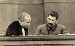 Khrouchtchev et Staline en janvier 1936