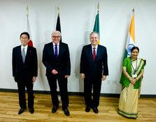 les membres du G4, principaux protagonistes à l'élargissement