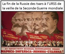 La fin de la Russie des tsars à l'URSS de la veille de la Seconde Guerre mondiale