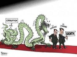 Une caricature traitant de la corruption dans l'Empire du Milieu