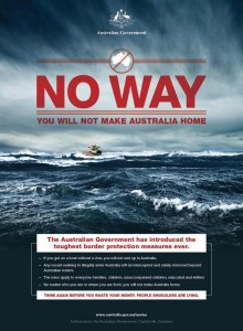 Campagne de communication à destination des demandeurs d'asile et migrants illégaux lancée par l'Australie en 2013