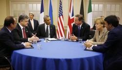 """Discussion de chefs d'Etats lors du dernier sommet de l'OTAN, organisation considérée comme représentative de """"l'Occident"""""""
