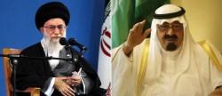 L'ayatollah Khamenei, guide suprême d'Iran, et l'actuel roi d'Arabie Saoudite, Abdallah