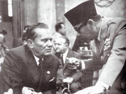 Tito et Soekarno, les dirigeants yougoslave et indonésien