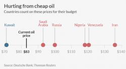 En jouant sur la baisse des cours, l'Arabie Saoudite fragilise les économies de pays membres de l'OPEP dépendants de cours du baril élevés.