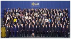 Chefs d'Etats et de gouvernement lors du Sommet du Millénaire pour le Développement en 2000