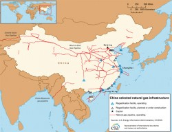 LNG infrastructures in China. Source: US EIA