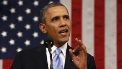 """Barack Obama lors de son discours annuel du """"State of the Union"""" le 28 janvier 2014."""