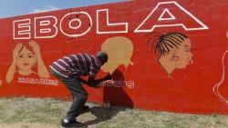 Affichage de sensibilisation à Ebola au Liberia