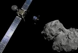 Rosetta larguant Philae sur Tchouri