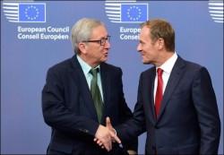 """Jean-Claude Juncker et Donald Tusk, les deux """"nouvelles"""" têtes des exécutifs de l'Union Européenne"""
