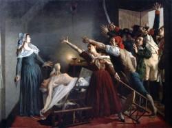 L'assassinat de Marat, par Jean-Joseph Weerts (1883). Le 1er attentat de l'Histoire