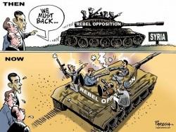 Une caricature traitant de l'état de l'opposition en Syrie