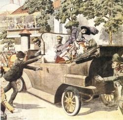 L'assassinat de l'archiduc François-Ferdinand d'Autriche, attentat déclencheur de la 1ère guerre mondiale