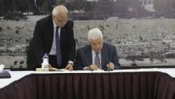 Mahmoud Abbas signe la demande d'adhésion de la Palestine au Statut de Rome