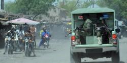 Les rues de Maïduguri suite à l'attaque du 2 février