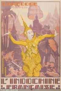L'exotisme romantisé de l'Indochine ressort parfaitement de cette affiche de 1897