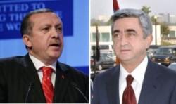 Alors que des progrès semblaient avoir été faits en 2014, le torchon brule désormais entre le président turc Erdogan (à gauche) et le président arménien Sargsian (à droite).