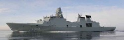 A Danish frigate that could be hosting NATO's radar system, the source of Russia's wrath.