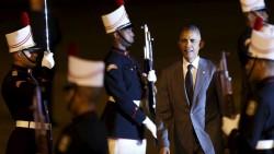 Barack Obama arrivant le 10 avril au Sommet des Amériques à Panama.