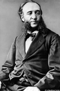 Jules Ferry (1832-1893) créateur de l'école laïque gratuite et obligatoires mais aussi l'un des initiateurs de la politique coloniale de la fin du XIXème siècle.