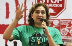 Ada Colau en campagne à Barcelone