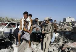 Les raids aériens ont fait de nombreuses victimes civiles comme à Sanaa.