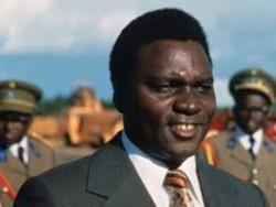 Le président rwandais Habyarimana, dont l'assassinat sema plusieurs mois de guerre civile et ethnique