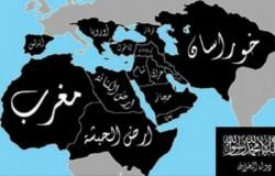 Une carte représentant les territoires visées pour l'instauration d'un califat mondial par les membres de l'EI